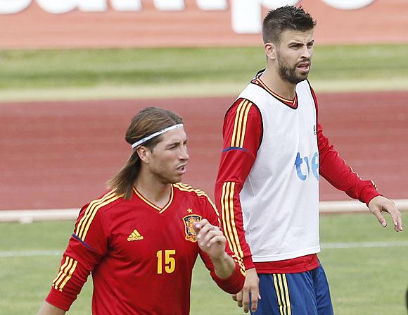 Gerard Pique with Sergio Ramos