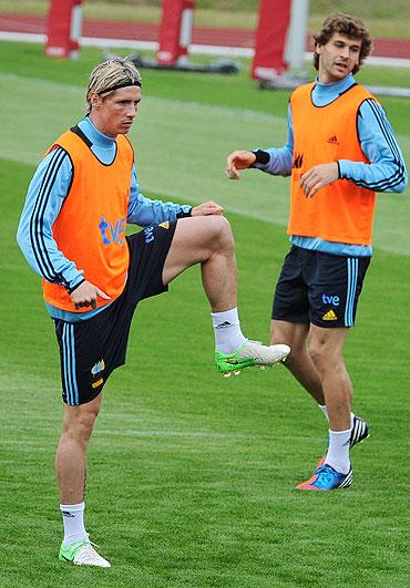Fernando Torres and Fernando Llorente
