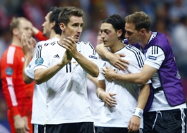 Germany players after the defeat to Italy in the semi-final