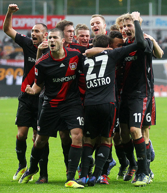 Players of Bayer Leverkusen