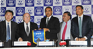 Praful Patel and Sepp Blatter