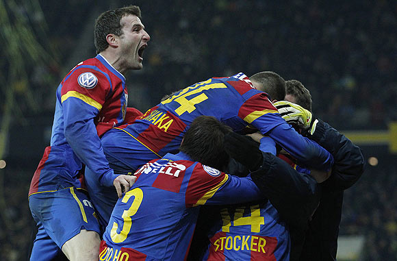 Basel players celebrate