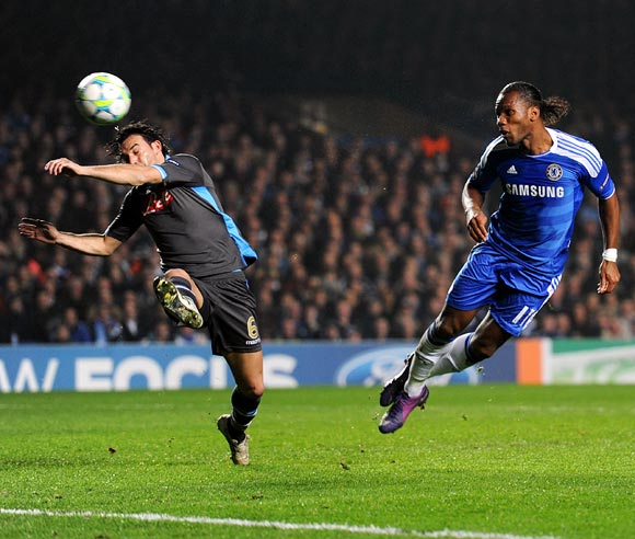 Didier Drogba scores Chelsea's first goal