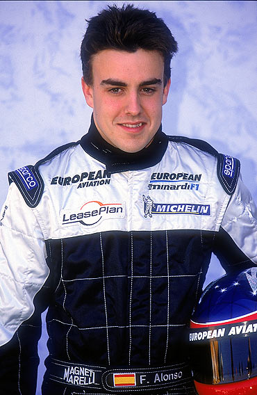 Fernando Alonso with Minardi in 2001