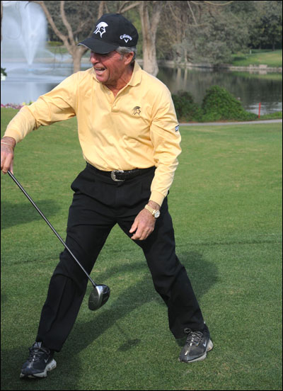 Gary Player in action.
