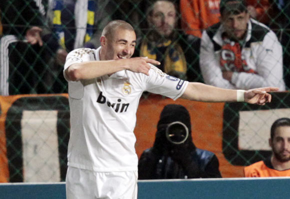 Benzema scored a brace
