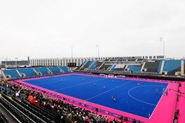 A general view Riverbank Arena - Hockey Centre, for the London Olympics