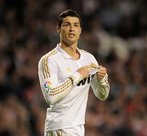 Cristiano Ronaldo reacts after Real Madrid win the La Liga titte