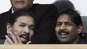 Blackburn Rover's joint owner Balaji Rao (left) and Venkatesh Rao of Venky's Ltd