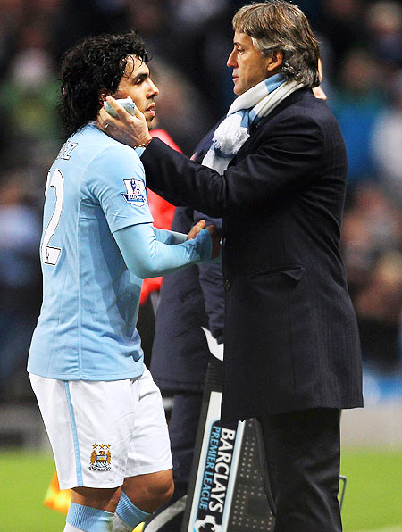 Mancini had to deal with numerous difficulties