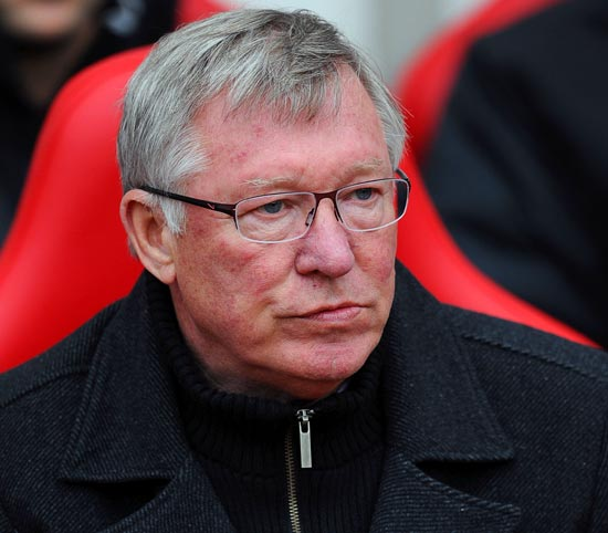 Manchester United manager Sir Alex Fe