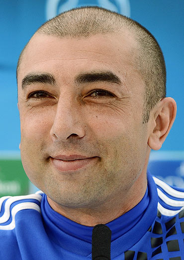 Chelsea caretaker manager Roberto Di Matteo at a press briefing on Tuesday