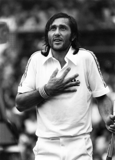 Nastase was the first man to achieve the feat