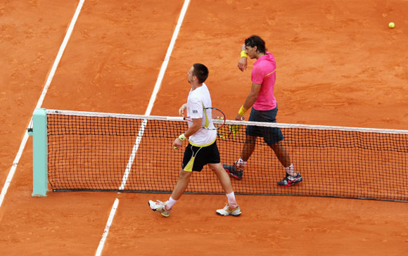 Soderling handed Nadal his lone loss in Paris