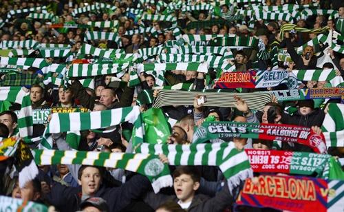 Celtic's fans sing