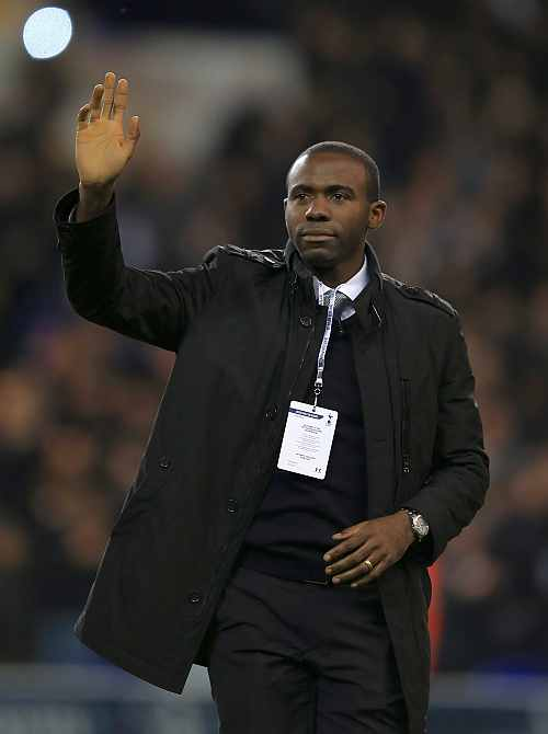 Former Bolton Wanderers player, Fabrice Muamba makes an emotional return to White Hart Lane during the UEFA Europa League group J match between Tottenham Hotspur FC and NK Maribor