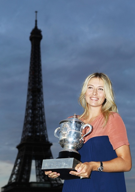French Open women's champion Maria Sharapova