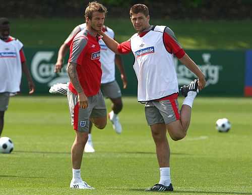 David Beckham and Steven Gerrard