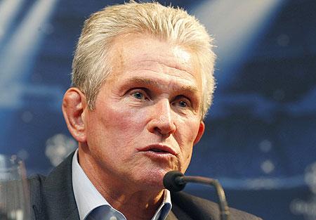Bayern Munich's coach Jupp Heynckes