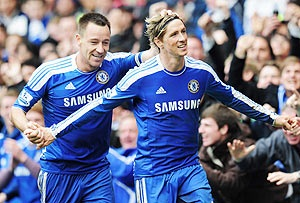 John Terry and Fernando Torres