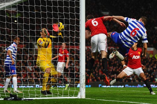 Evans scored the equaliser against QPR