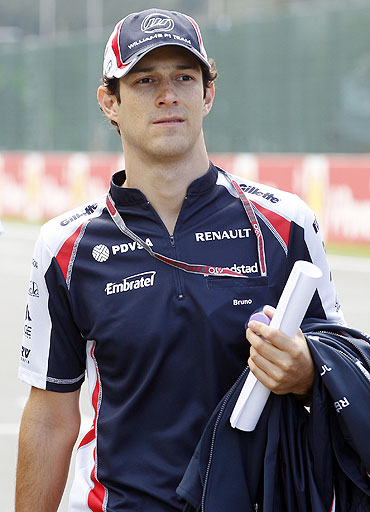 Williams Formula One driver Bruno Senna