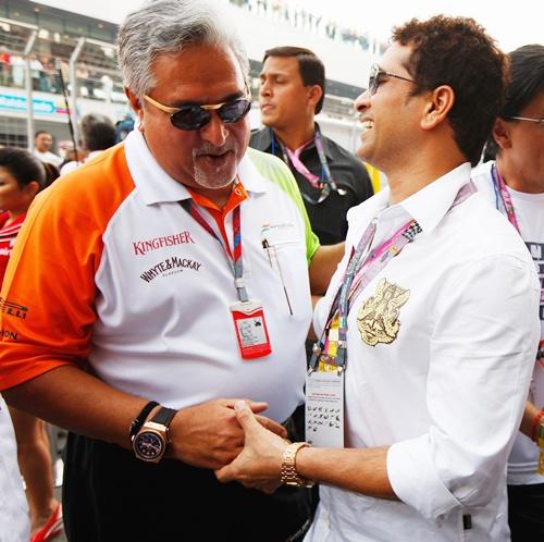 Vijay Mallya with Sachin Tendulkar
