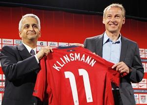 Juergen Klinsmann (right) with Sunil Gulati