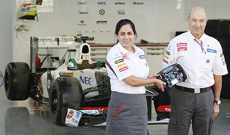 Monisha Kaltenborn with Peter Sauber