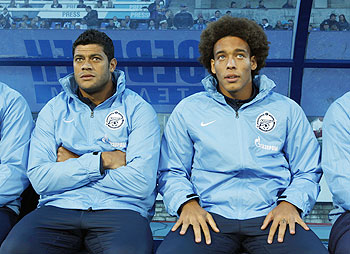Zenit St Petersburg's Hulk and Alex Witsel