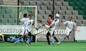 World Series Hockey action at the Mumbai Hockey Association