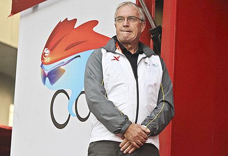 Pat Mcquaid, president of the Union Cycliste Internationale (UCI)