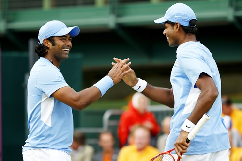 Leander Paes with Vishnu Vardhan