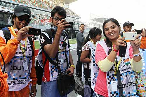 Fans at the Buddh International Circuit
