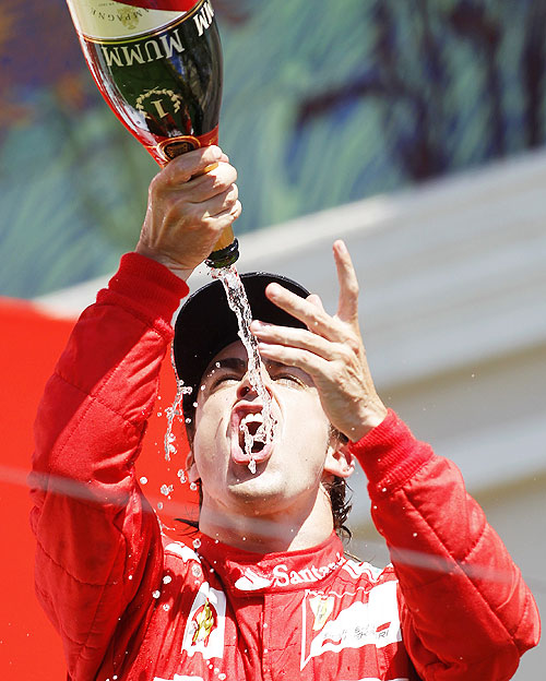 Ferrari Formula One driver Fernando Alonso