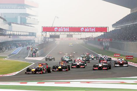 Schumacher's last race appearance in India ended early