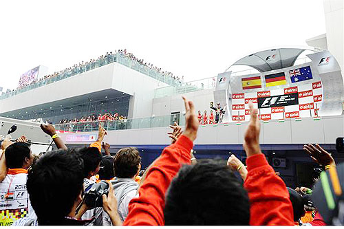 The best images from the Indian Grand Prix