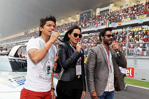 Shaan, Sonakshi Sinha and Ajay Devgan