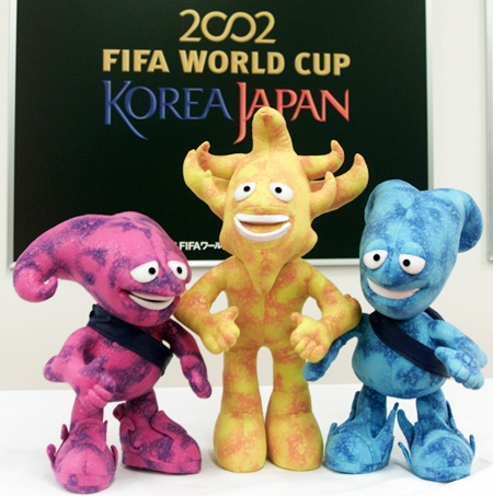 The official mascots for the 2002 FIFA World Cup
