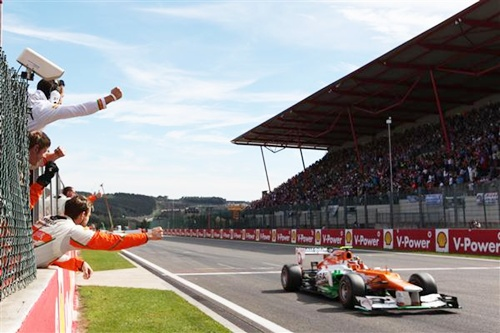 PIX: Hulkenberg records career-best 4th position at Belgian GP