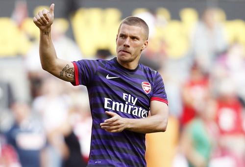 Arsenal's Lukas Podolski