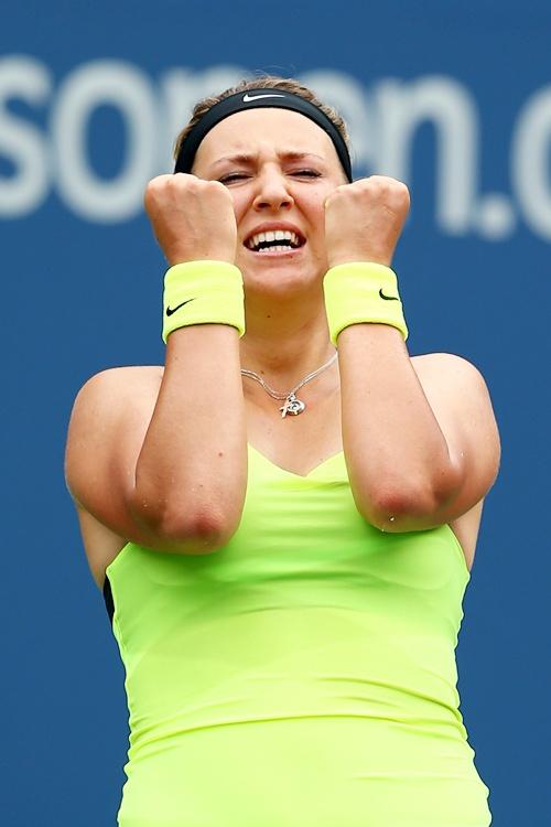 Victoria Azarenka of Belarus celebrates