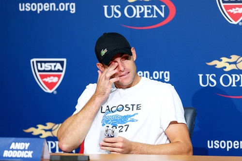 Andy Roddick of the United States