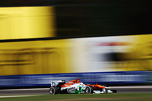 Paul di Resta of Force India drives