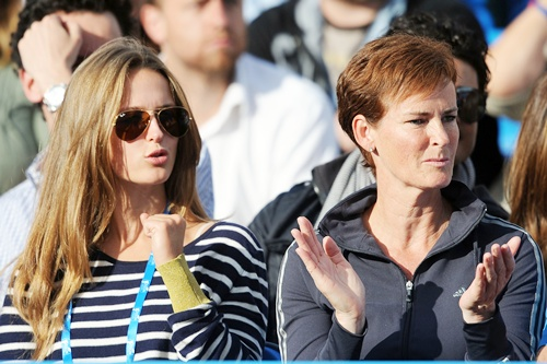 Kim Sears (Left) and Andy Murray's mother Judy