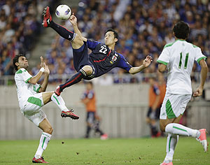 Maya Yoshida vs Iraq in WC qualifier