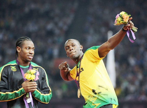 Yohan Blake with Usain Bolt