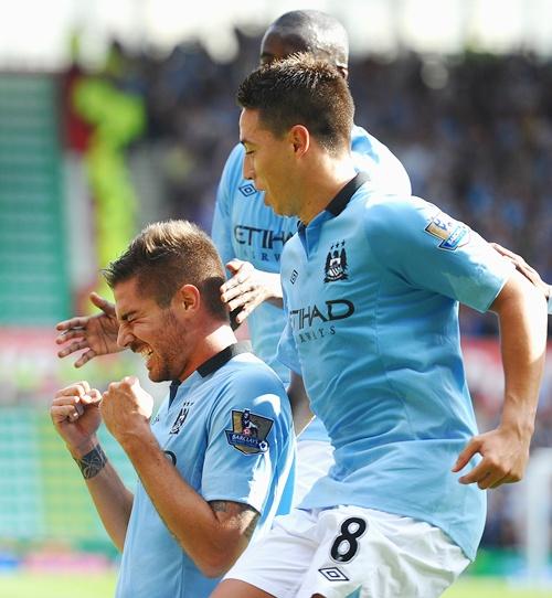 Javi Garcia of Manchester City celebrates