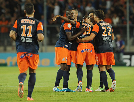 Montpellier Herault players celebrate