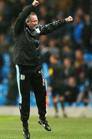 Paul Lambert the manager of Aston Villa